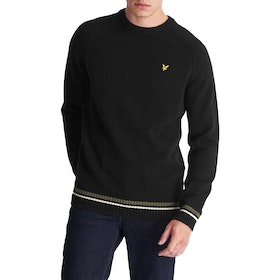 Lyle & Scott Multi Rib Knitted Jumper Herren Knits - True Black