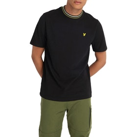 Lyle & Scott Multi Rib Herren Kurzarm-T-Shirt - True Black