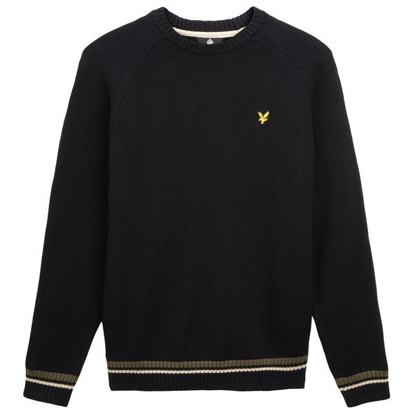Lyle & Scott Multi Rib Knitted Jumper Мужчины Knits