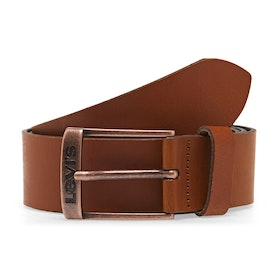 Levi's New Duncan Men's Leather Belt - Medium Brown