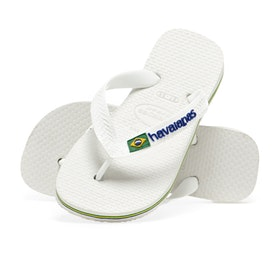 Havaianas Brasil Logo Kinder Sandalen - White