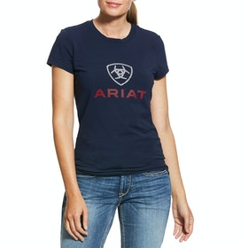 Ariat HD Logo Ladies Top - Navy