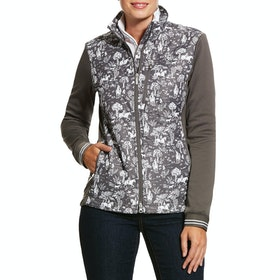 Ariat Hybrid Insulated Water Resistant , Riding Jacket Kvinner - Plum Grey Toile