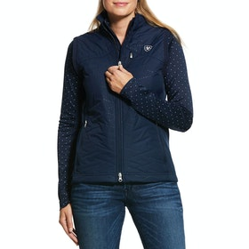 Ariat Hybrid Insulated Water Resistant Vest Ladies Gilet - Navy