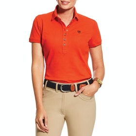 Ariat Prix 2.0 Damen Polo-Shirt - Red Clay