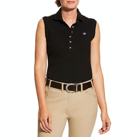 Ariat Prix 2.0 Sleeveless Ladies Polo Shirt - Black