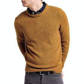 Gant Neps Knit Crew Sweater - Ivy Gold Melange