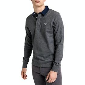 Gant The Original Heavy Polo Shirt - Charcoal Melange