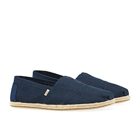 Espadryle Toms Rope Sole Linen - Navy