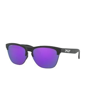 Oakley Frogskins Lite Prizm Sunglasses - Matte Black ~ Violet
