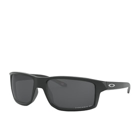 Oakley Gibston Polarized Sunglasses - Matte Black ~ Black