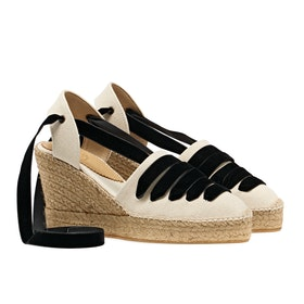 Espadrillas Donna Penelope Chilvers High Sevillana Dali CA Exclusive - Ecru Black