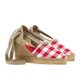 Espadrillas Donna Penelope Chilvers High Valenciana Gingham - Red White