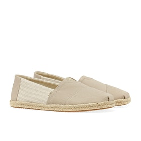 Toms Canvas Rope Sole Espadrilles - Natural