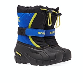 Sorel Childrens Flurry Kinder Stiefel - Black Super Black