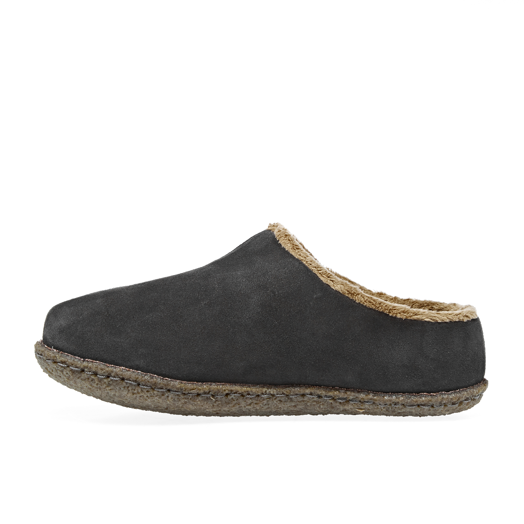 SOREL Youth Falcon Ridge II Suede Slippers with Fleece Lining for Kids