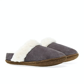 Sorel Youth Nakiska Slide II Kinder Pantoffeln - Purple Sage, Na