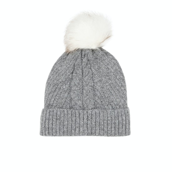 Jack Wills Dorchester Cable Hat Womens Beanie