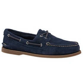 Sperry A/o 2-eye Suede , Dress Shoes - Navy
