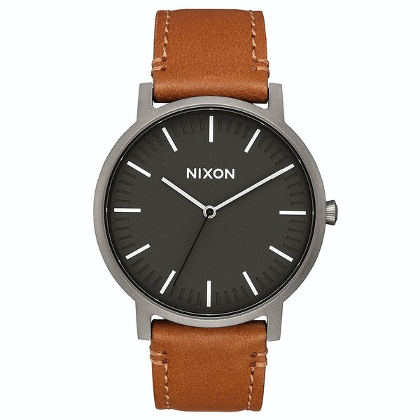 Nixon Porter Leather Men's Watch