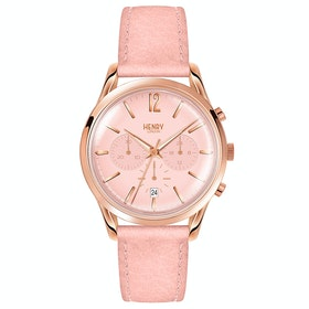Orologio Donna Henry London Shoreditch Chronograph 39mm Watch - Nude Pink Leather
