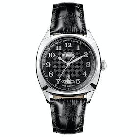 Relógio Vivienne Westwood Hampstead - Silver Black Leather