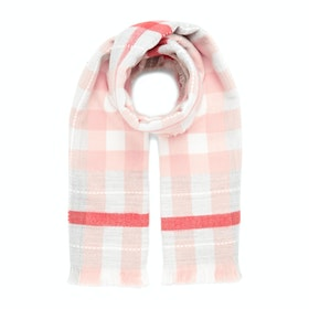 Joules Stamford Women's Scarf - Pink Check
