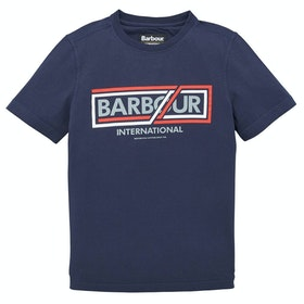 Barbour International Compressor Boy's Short Sleeve T-Shirt - Navy