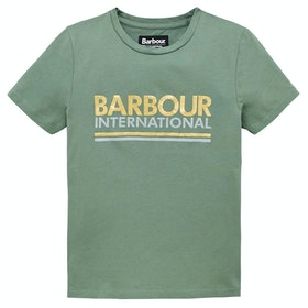 Barbour International Distance Girl's Short Sleeve T-Shirt - Tussock Green