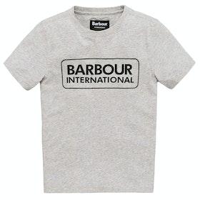 Barbour International Essential Logo Boy's Short Sleeve T-Shirt - Grey Marl