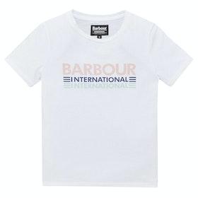 Barbour International Trackrace Girl's Short Sleeve T-Shirt - White