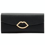 Lulu Guinness Cut Out Lip Trisha Damen Brieftasche