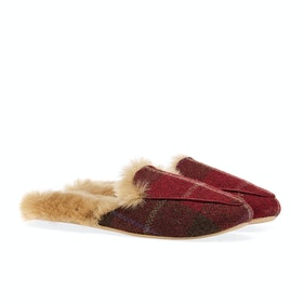 Joules Ferndale Women's Slippers - Red Check