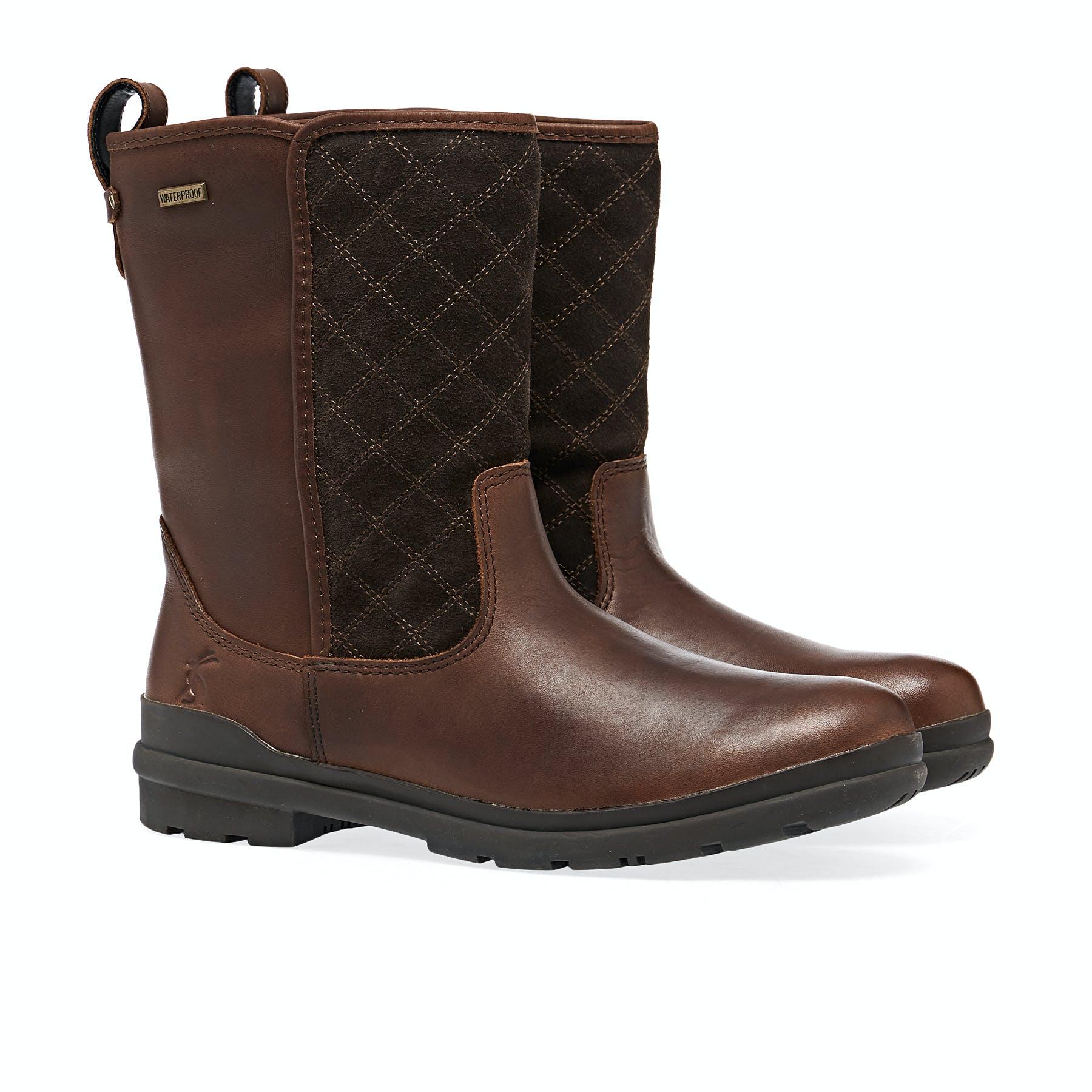 Dark Brown All Sizes Joules Rutland Womens Boots Wellington