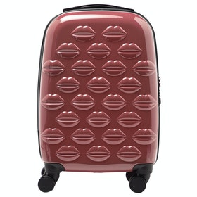 Bagaż Damski Lulu Guinness Small Lips Hardside Spinner Case - Antique Rose