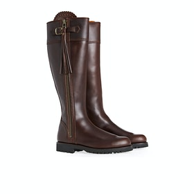 Penelope Chilvers Long Leather Tassel Women's Boots - Conker Leather