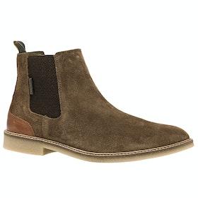 Barbour Atacama Boots - Dark Sand Suede