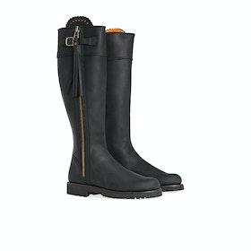 Penelope Chilvers Long Leather Tassel Women's Boots - Black