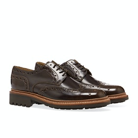 Grenson Archie Herren Dress Shoes - Pickled Walnut Hi Shine