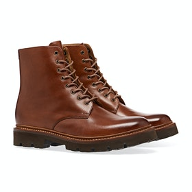Grenson Hadley Boots - Tan Hand Painted