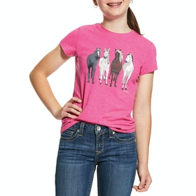 Camiseta de manga corta Ariat 360 View - Beet Pink Heather