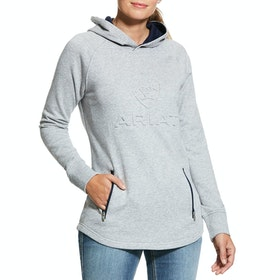 Ariat 3D Damen Kapuzenpullover - Heather Grey