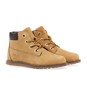 Timberland Pokey Pine 6in Side Zip Kinder Stiefel - Wheat