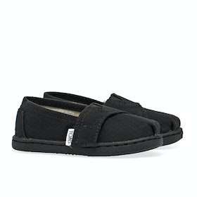 Toms Mini Classics Kid's Slip On Trainers - Black