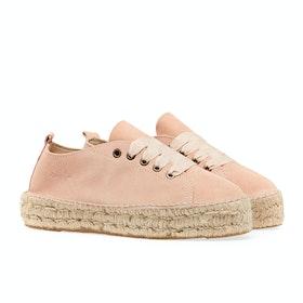 Manebi Hamptons Suede Sneaker Espadrilles Damen Schuhe - Pastel Rose