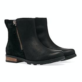 Sorel Emelie Zip Bootie Stiefel - Kilay Black