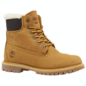 Timberland 6in Premium Shearlin Wheat Damen Stiefel - Wheat Waterbuck