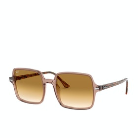 Ray-Ban Square II Sunglasses - Trasparent Light Brown~gradient Brown