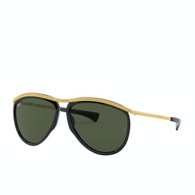 Ray-Ban Olympian Aviator Sunglasses - Black~green
