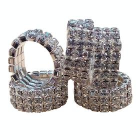 Lincoln Diamante Plaiting Band - Silver